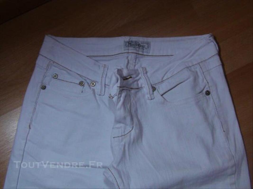 1 Bermuda Femme Blanc Jeans 38/40 Neuf 84072061