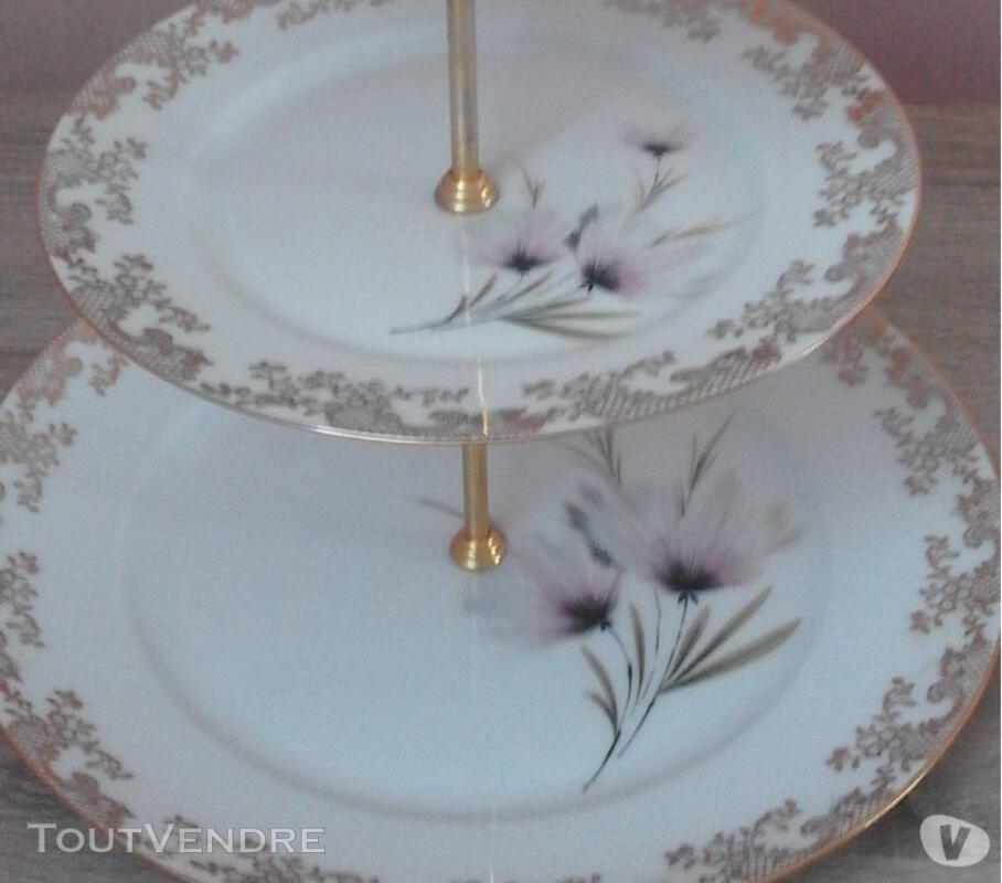 1 présentoire à gâteaux 3 étages porcelaine de limoges 309880573