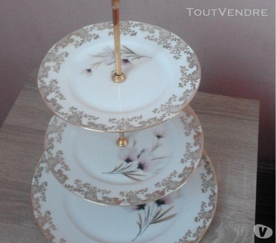 1 présentoire à gâteaux 3 étages porcelaine de limoges 309880576