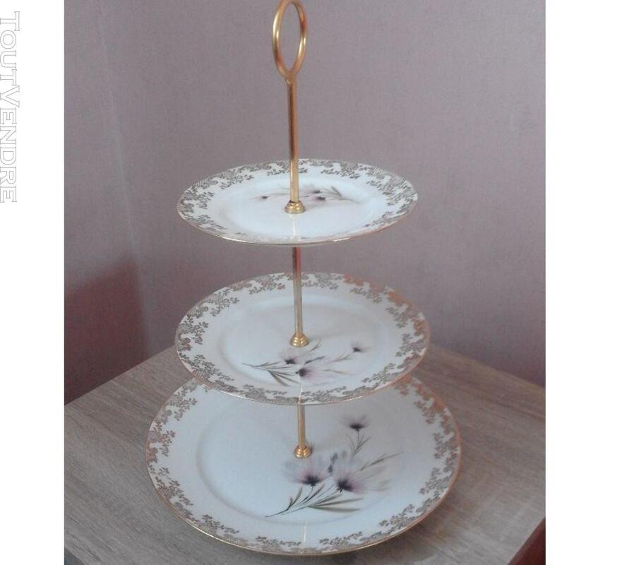 1 présentoire à gâteaux 3 étages porcelaine de limoges 309880579