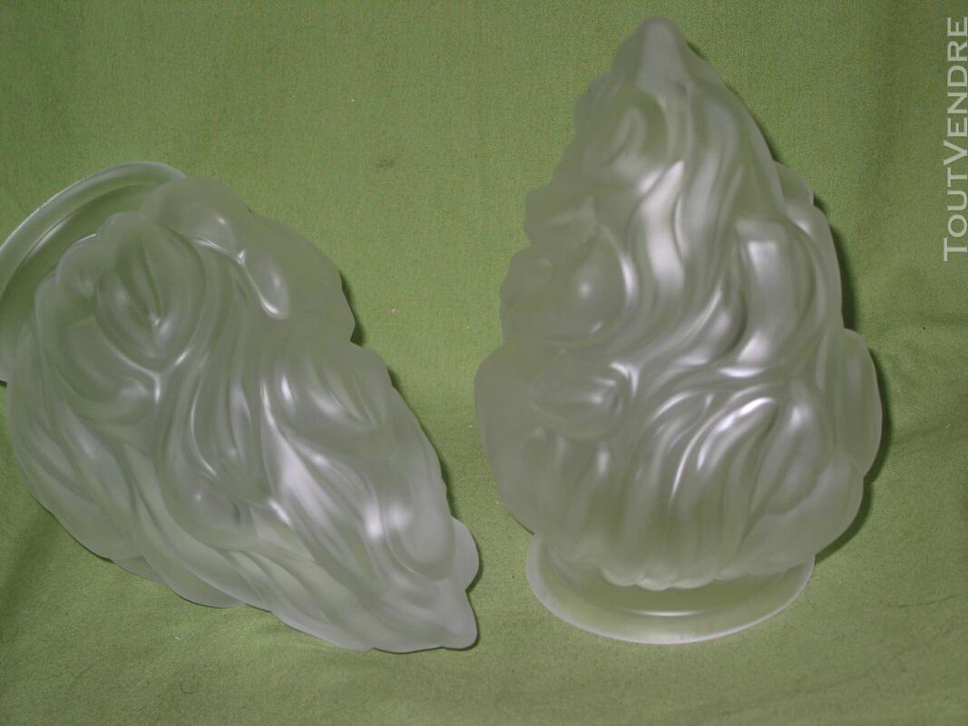 1 une Tulipe flamme empire pâte de verre pressée lampe lustr 620718834
