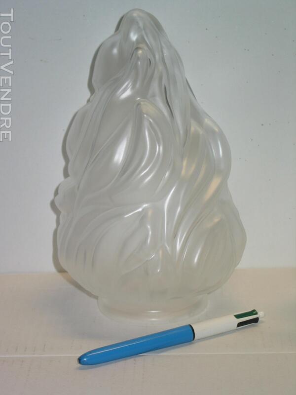 1 une Tulipe flamme empire pâte de verre pressée lampe lustr 620718843
