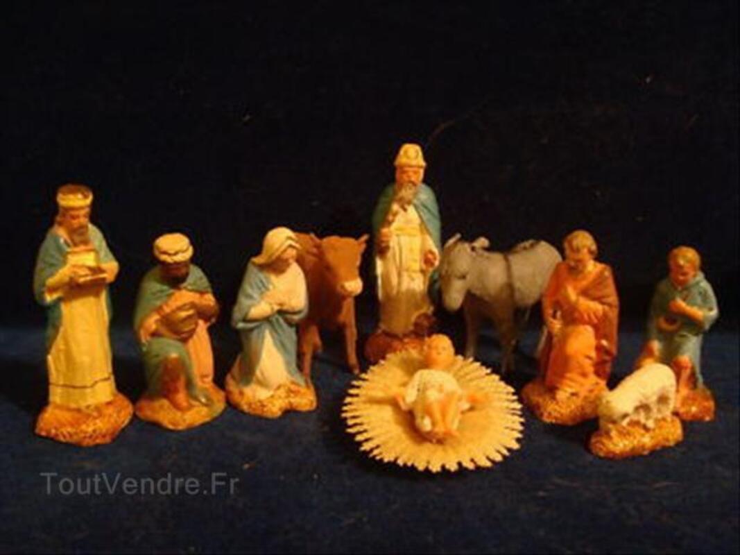 10 anciens santons Devineau 9 cms  creche taille 3 54667101
