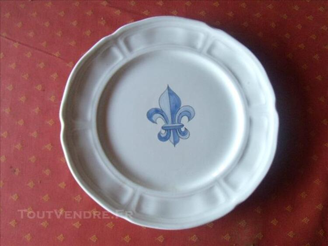 11 assiettes plates henriot 82678897