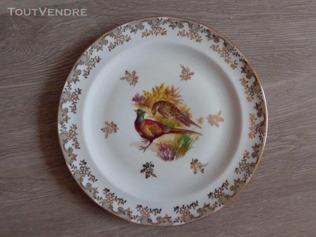 12 assiettes + 1 plat gibier porcelaine de limoges 309880555