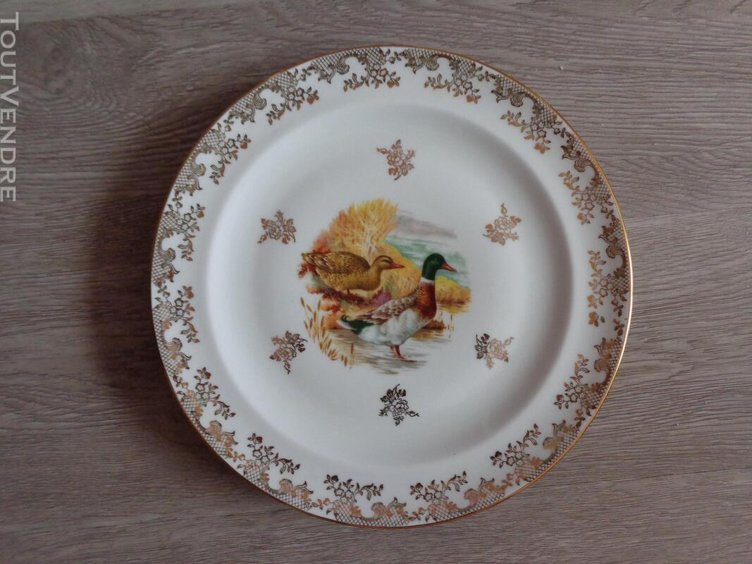 12 assiettes + 1 plat gibier porcelaine de limoges 309880558