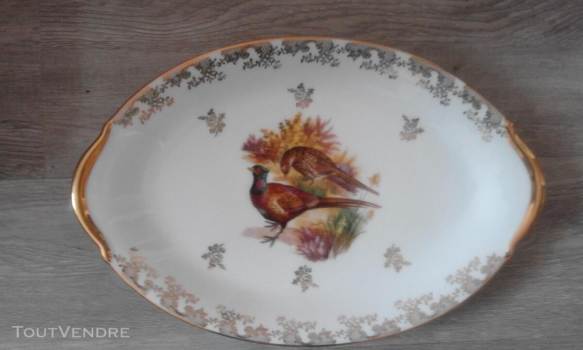 12 assiettes + 1 plat gibier porcelaine de limoges 309880567