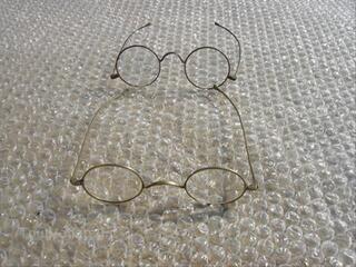 2 ancienne paire de lunettes binocle
