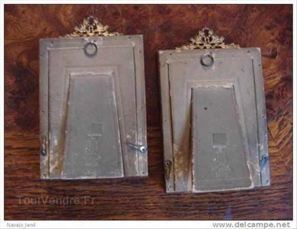 2 anciens cadres bois et cuivre, photos anciennes 88217116