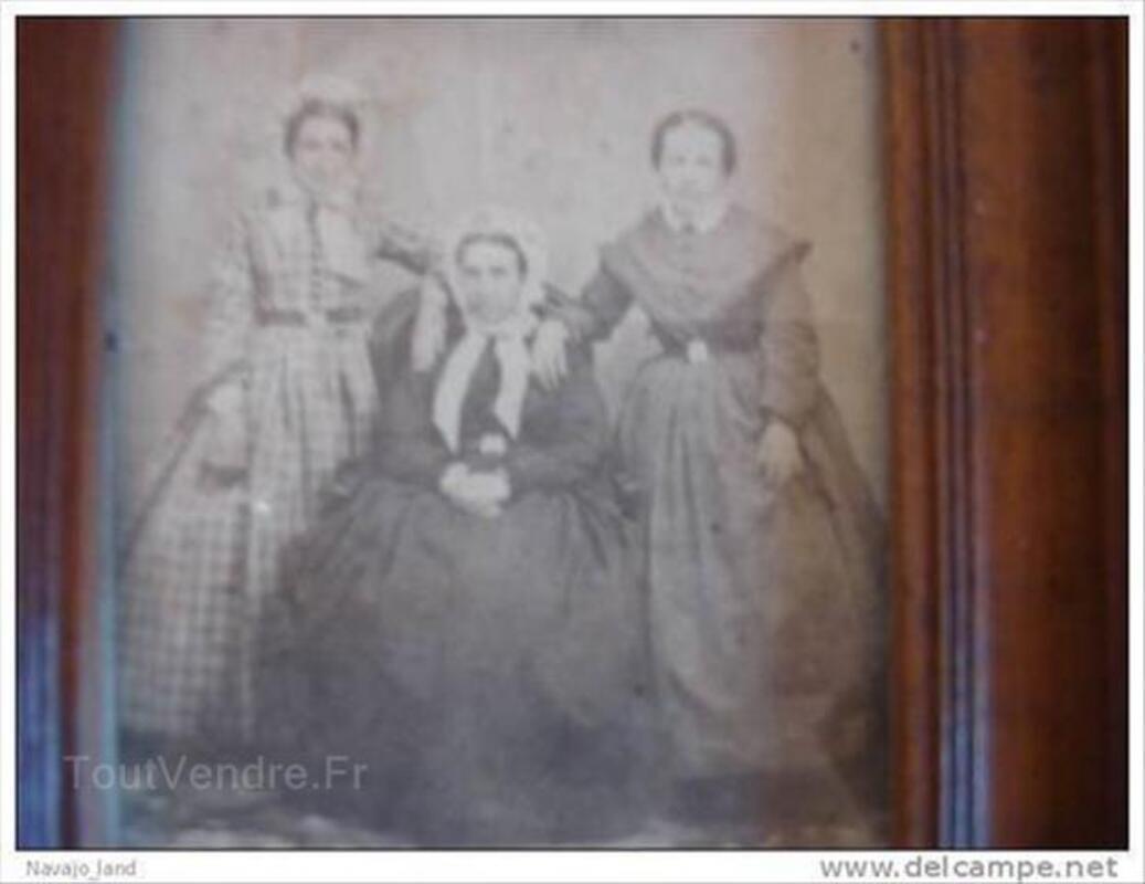 2 anciens cadres bois et cuivre, photos anciennes 88217117