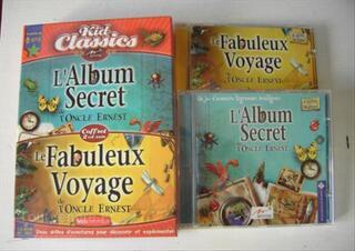 2 CD jeux PC Mac l'oncle Ernest album secret et voyage