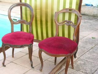 2 chaises deco