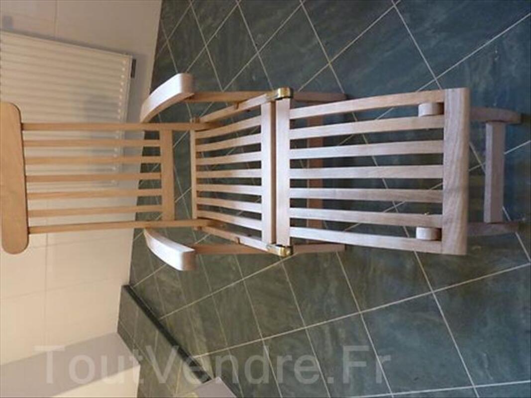 2 chaises en teck et table basse 64454316