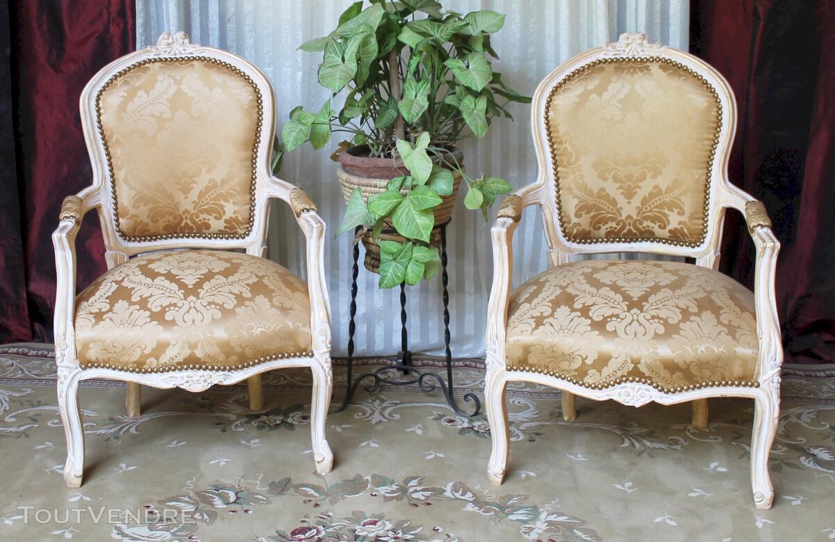 2 Fauteuils Cabriolet de Style Louis XV 114004569