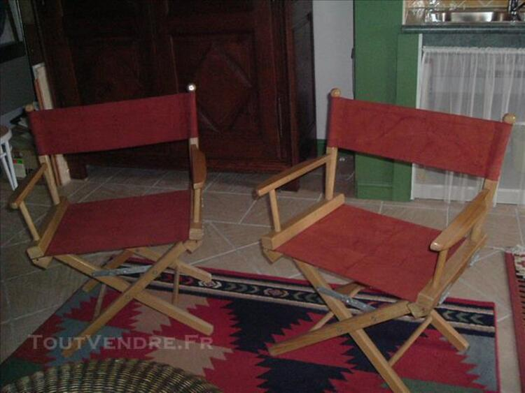 2 fauteuils metteur en scène 83866128