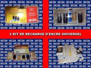 2 kit de recharge d'encre universel