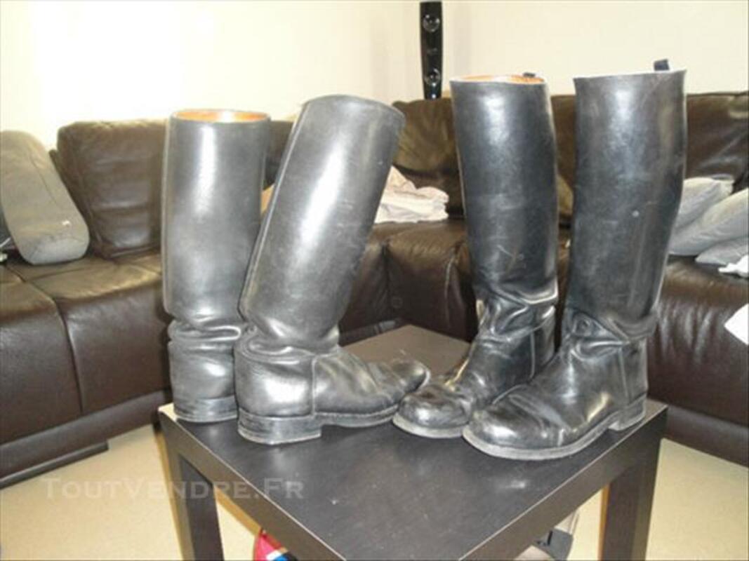 2 paires de bottes moto ou équitation 83082224