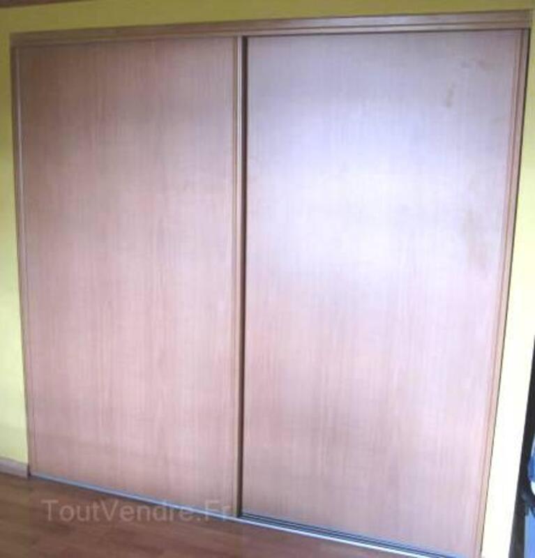 2 portes de placard coulissantes couleur poirier 3240161
