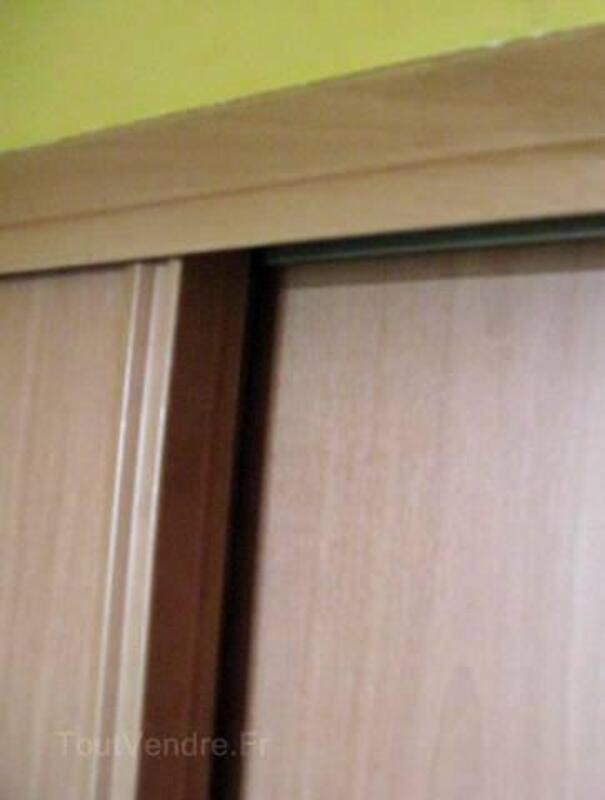 2 portes de placard coulissantes couleur poirier 3240164