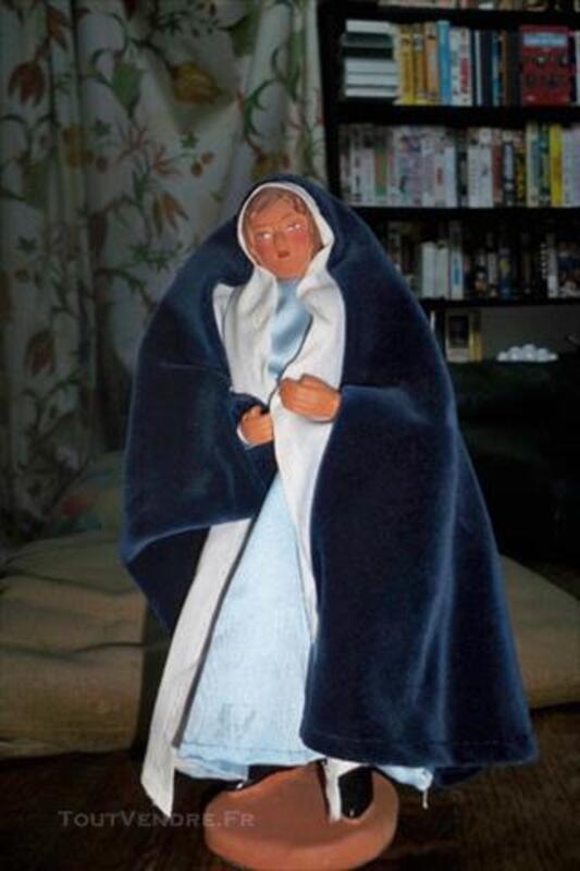 2 Santons habillés PROVENCE DANIEL :  JOSEPH ET MARIE 84848991