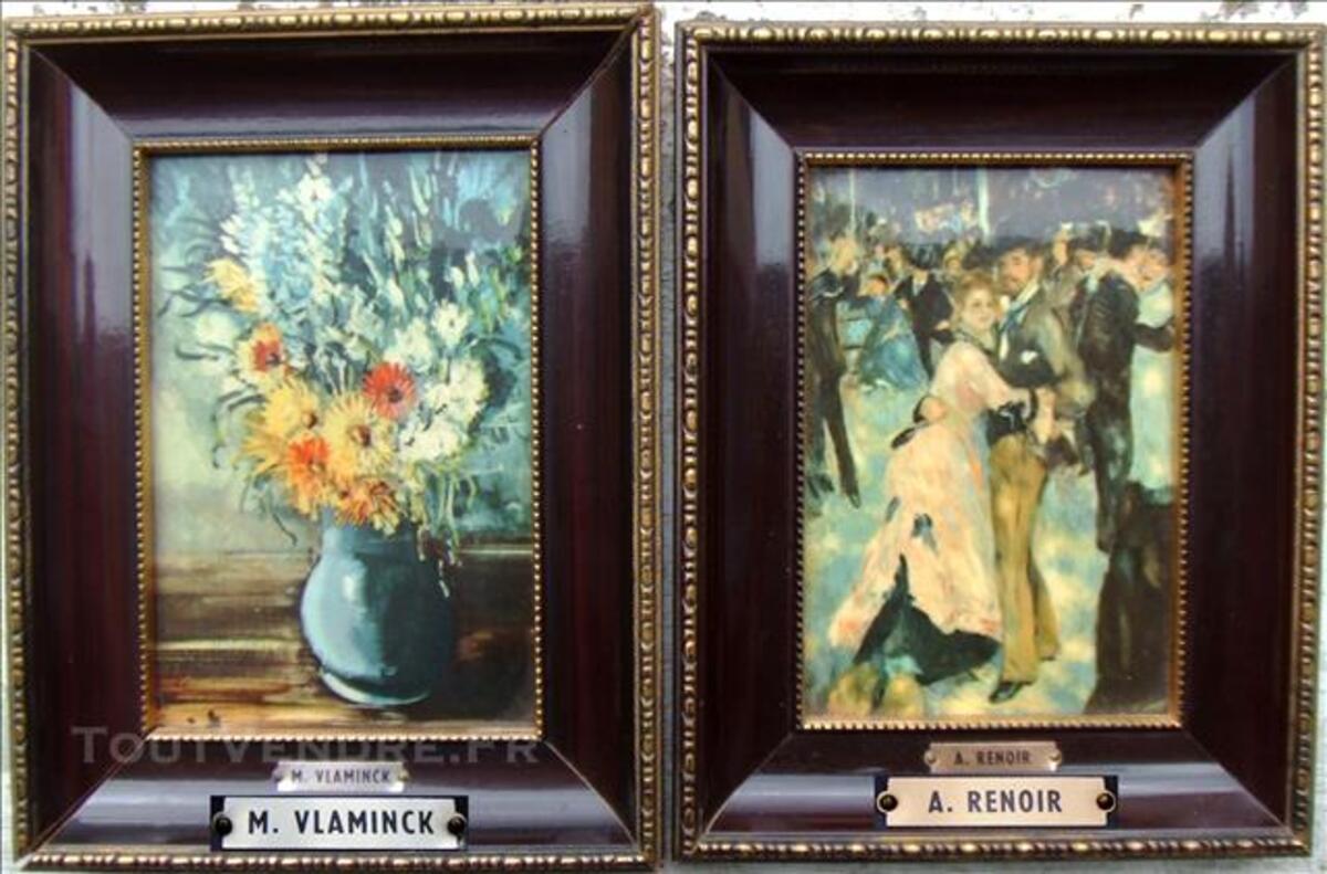 2 Tableaux/Photos Encadrées. Peintures de VLAMINCK et RENOIR 78768884