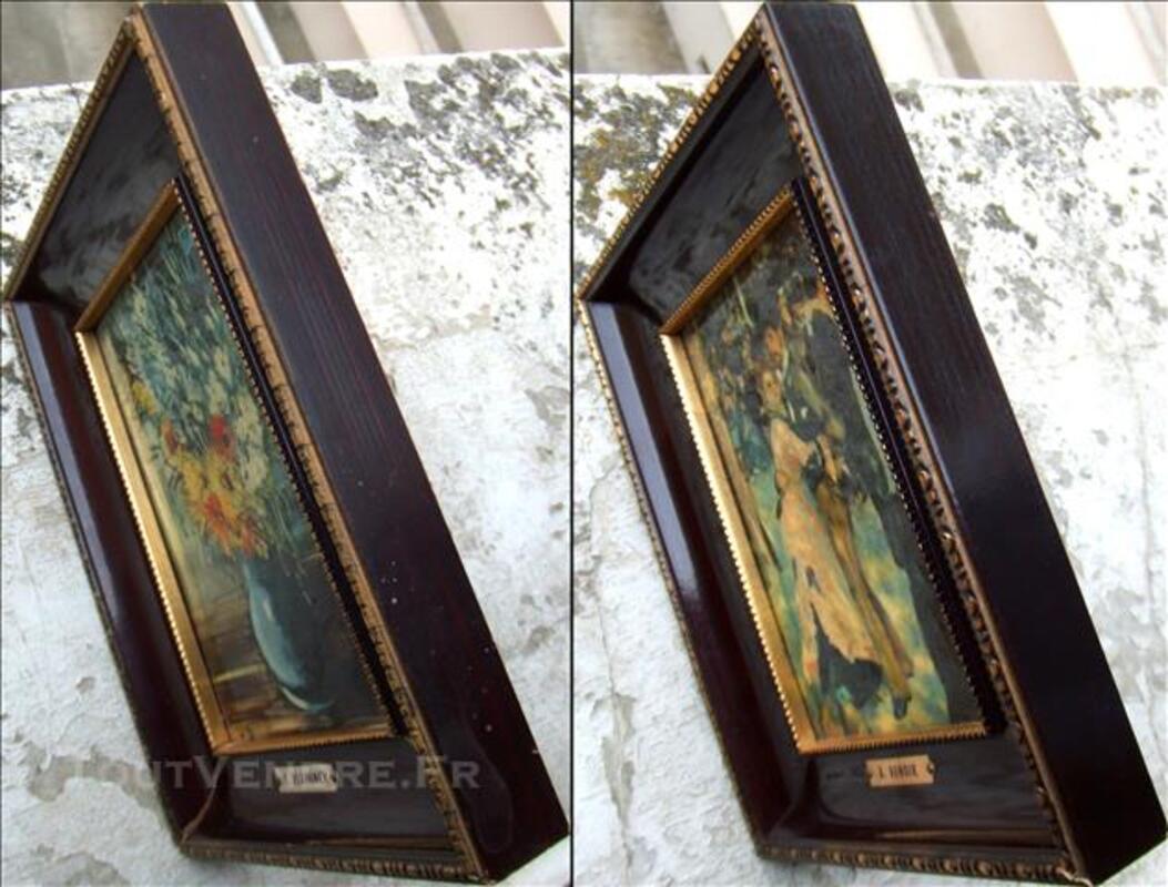 2 Tableaux/Photos Encadrées. Peintures de VLAMINCK et RENOIR 78768885