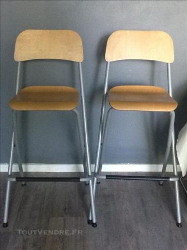2 tabourets de bar IKEA Franklin pliables 77559750