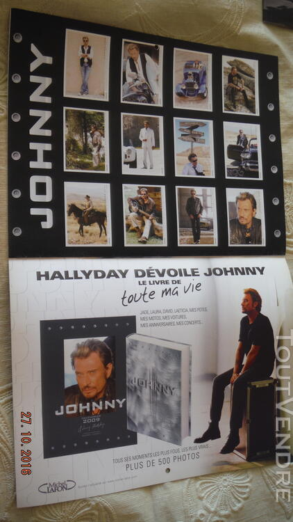 3 Calendriers : 2009,2010,2011 Johnny Hallyday 172041045