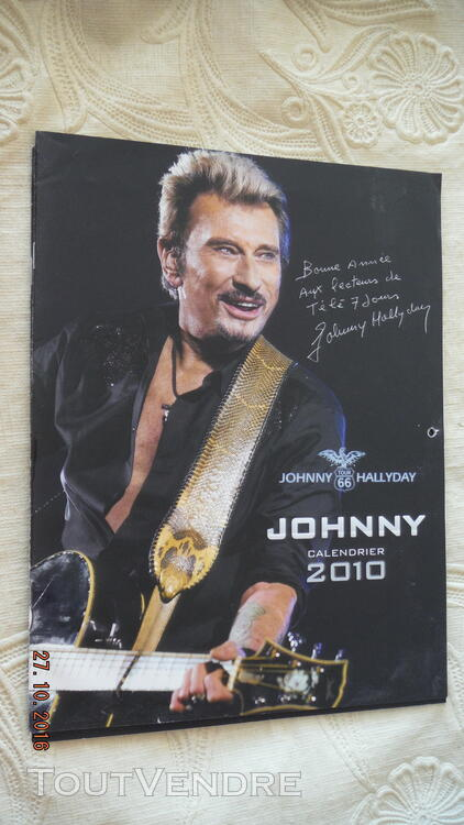 3 Calendriers : 2009,2010,2011 Johnny Hallyday 172041048