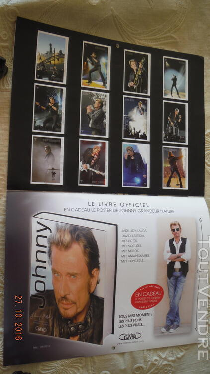 3 Calendriers : 2009,2010,2011 Johnny Hallyday 172041051