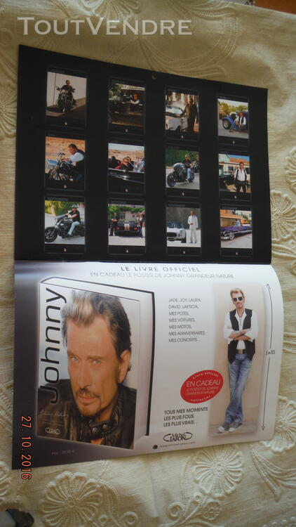 3 Calendriers : 2009,2010,2011 Johnny Hallyday 172041054