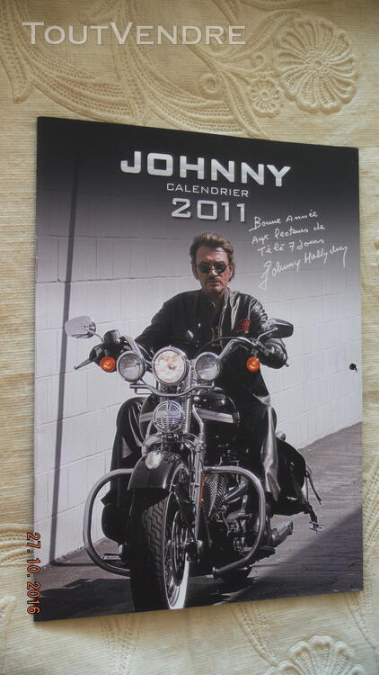 3 Calendriers : 2009,2010,2011 Johnny Hallyday 172041057