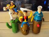 3 FIGURINES LUCKY LUKE MAC DO
