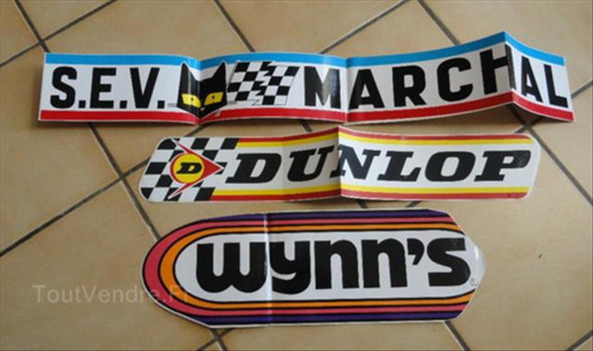 3 grands autocollants SEV Marchal - Dunlop - Wynn's 66109896