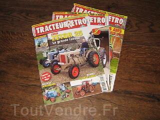3 magazines agricoles Tracteur-Retro, N°20-22 et 26.