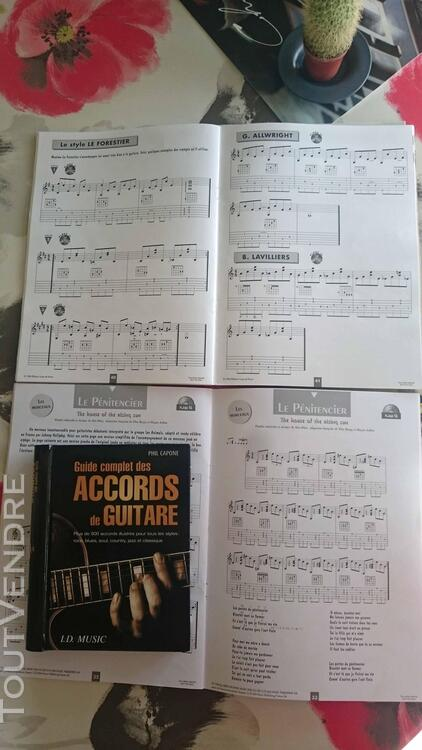3 Méthode de guitare avec CD + 1 Livre accords de guitare 671241705