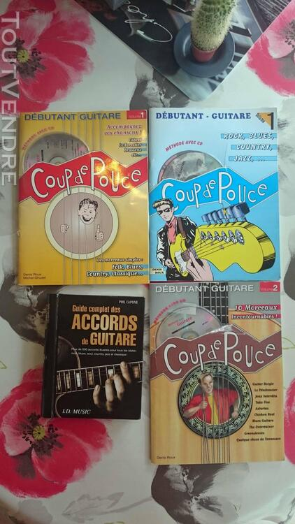 3 Méthode de guitare avec CD + 1 Livre accords de guitare 671241708