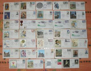 34 enveloppes Premier Jour de 1970 à 1972