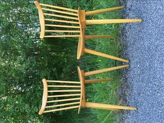 4 anciennes chaises Vintage Baumann