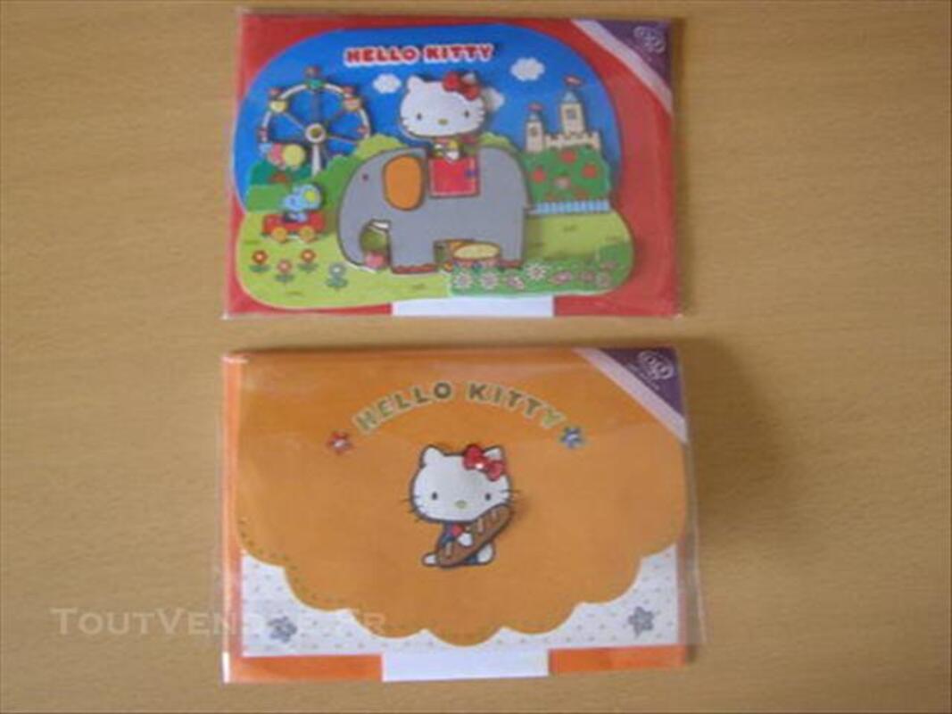 4 Cartes d'anniversaire Hello Kitty 84648982