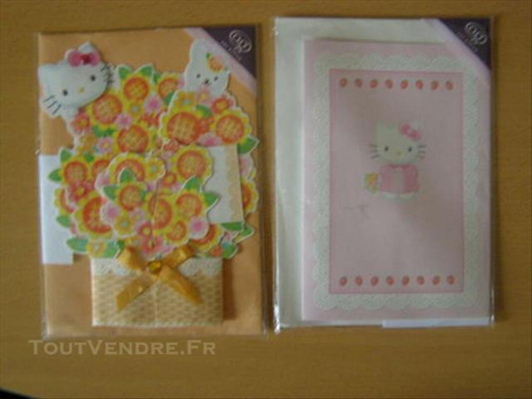 4 Cartes d'anniversaire Hello Kitty 84648983