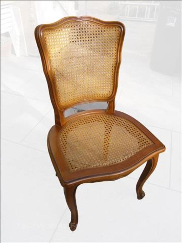4 chaises bois et cannage style ancien 82997219