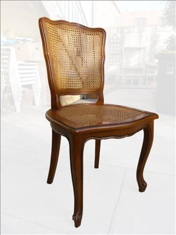 4 chaises bois et cannage style ancien 82997220