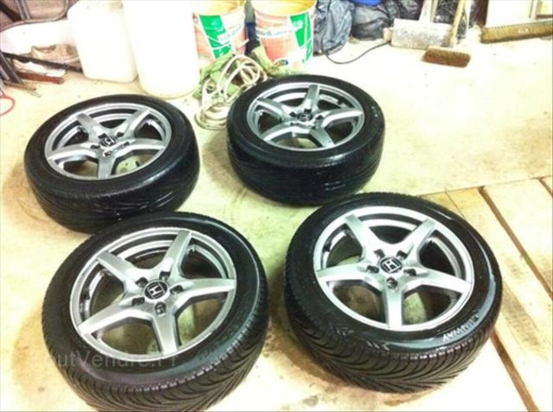 """4 jantes Honda 16"""" + pneus 205/50/16 87W 56237263"""