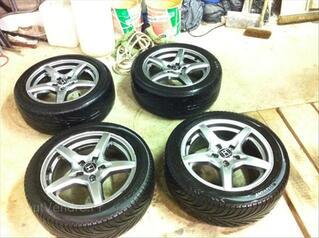 """4 jantes Honda 16"""" + pneus 205/50/16 87W"""