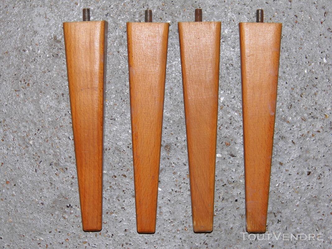 4 Pieds de meuble armoire buffet ancien vintage 129314883