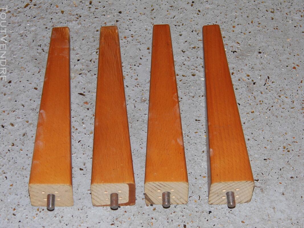 4 Pieds de meuble armoire buffet ancien vintage 129314884