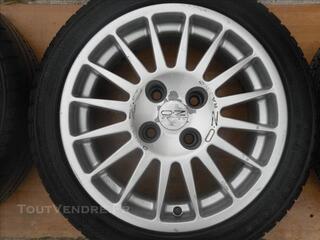 4 pneus et jantes pour peugeot 106 S16