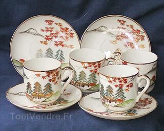 4 tasses a cafe' antiques japonaises