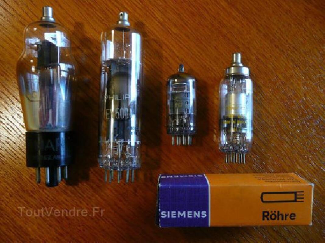 4 tubes à vide électroniques (vacuum tubes) 89508658
